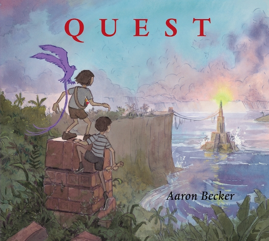 Fashion Book Cover Quest : Quest by aaron becker a first look at this new children s