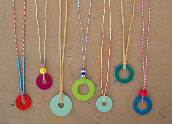 Washer necklace DIY at Small for Big