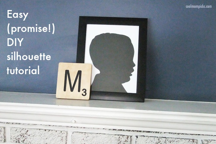 How to make a silhouette portrait: A DIY with an easy cheat