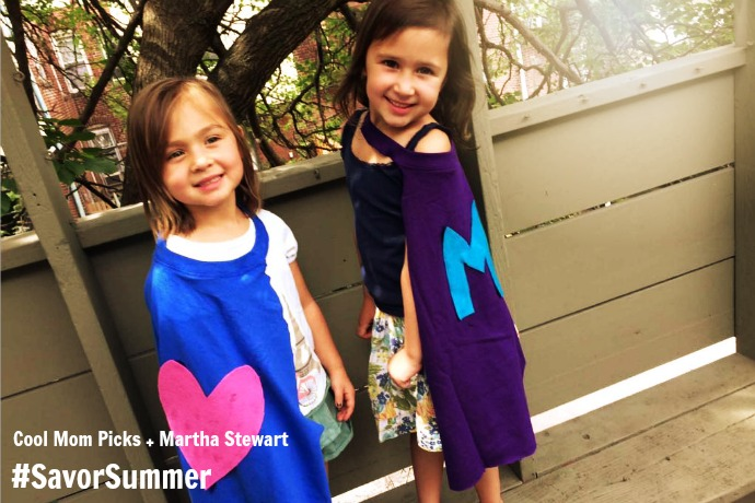 A DIY Superhero cape craft: how we #SavorSummer with Martha Stewart