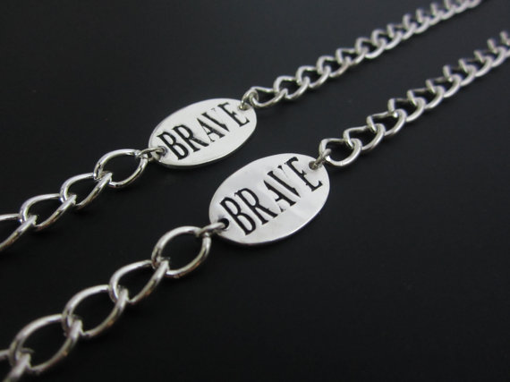 I want to see you be brave: Kids' jewelry to help them feel strong