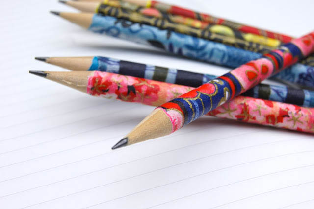 Handmade gifts: Kids can decorate pencils with washi tape