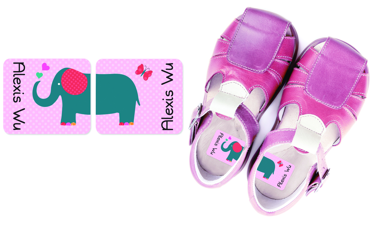 Personalized preschool shoe labels that help tell right from left. So smart!