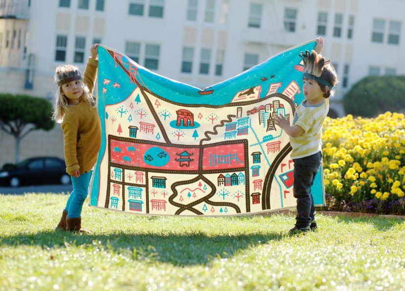 baby playmat: Wanderlust City Baby Playmats by Ella Lou - San Francisco