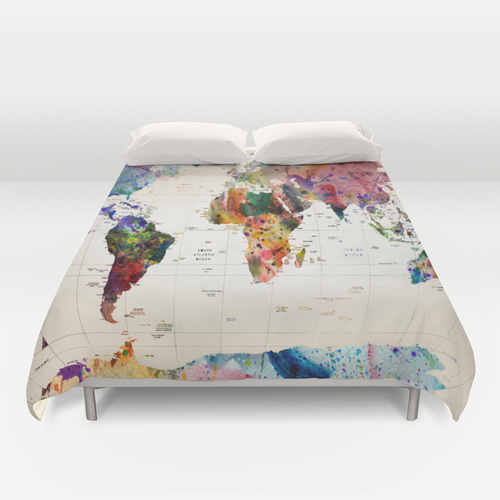 Duvet covers from Society6: What all the cool beds will be wearing this year.