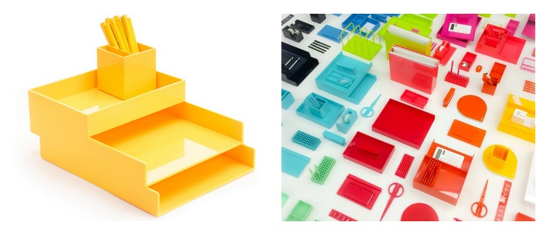 Cheery Color Coordinated Desk Accessories In Colors To Make You Hy