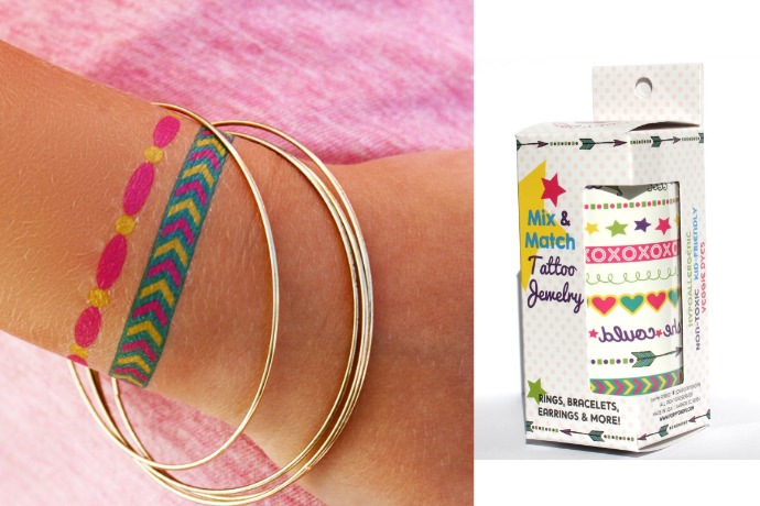 Temporary tattoo jewelry make an excellent alternative for kids not ready for the real stuff