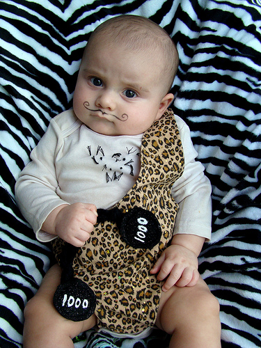 Creative Halloween costumes for baby: Strongman via PBS Parents