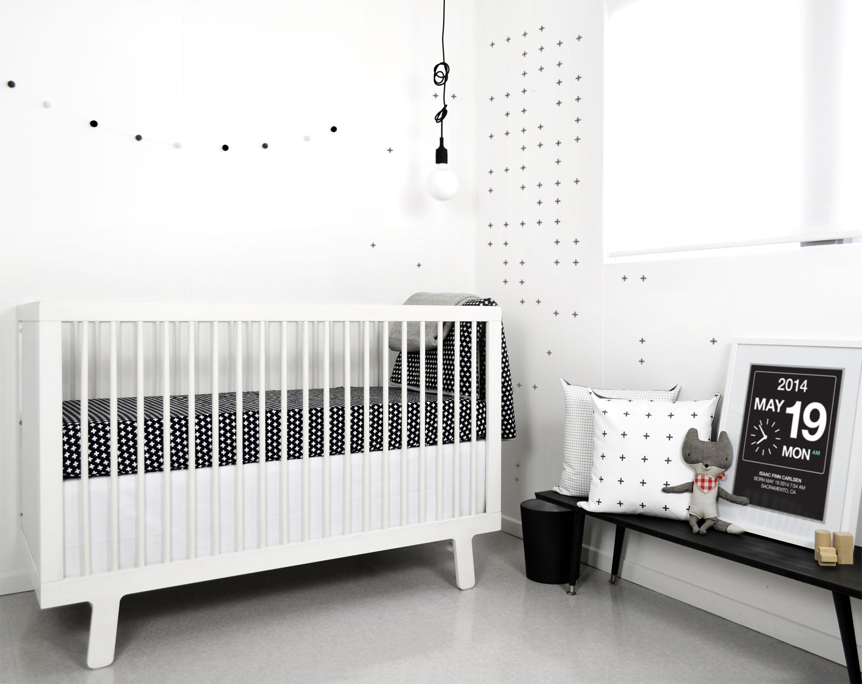 More than 40 ideas for the coolest black and white nursery