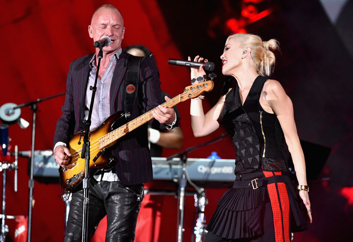 Sting and Gwen Stefani perform at the Global Citizens Festival