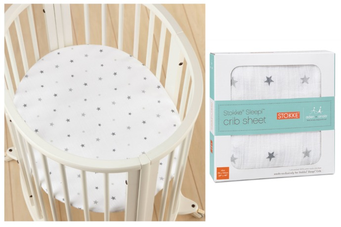 Our new favorite couple: aden + anais and Stokke. Aren't they cute together?