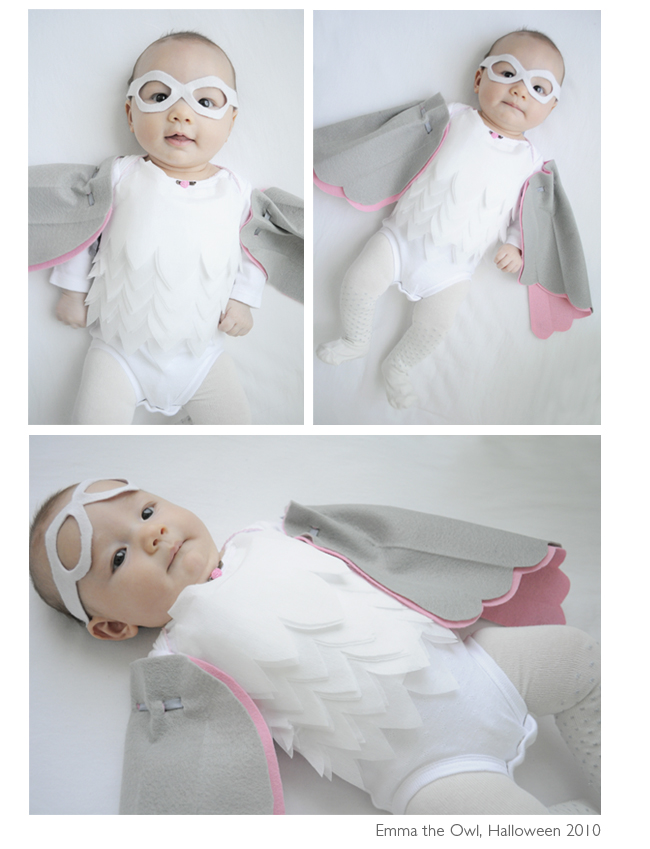 Creative Halloween costumes for baby: DIY Owl costume at Lifeflix