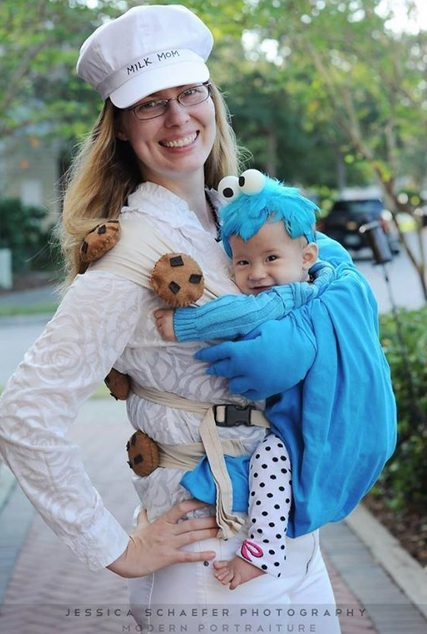 Creative Halloween costumes for baby: Milk & Cookies by Jessica Schaefer Photography