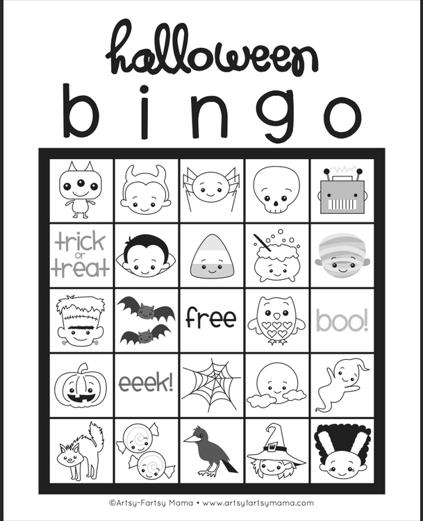 It is a picture of Unusual Free Halloween Bingo Printable