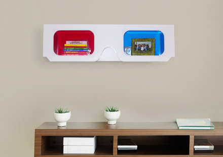 The fun 3D shelf that's coming right at you
