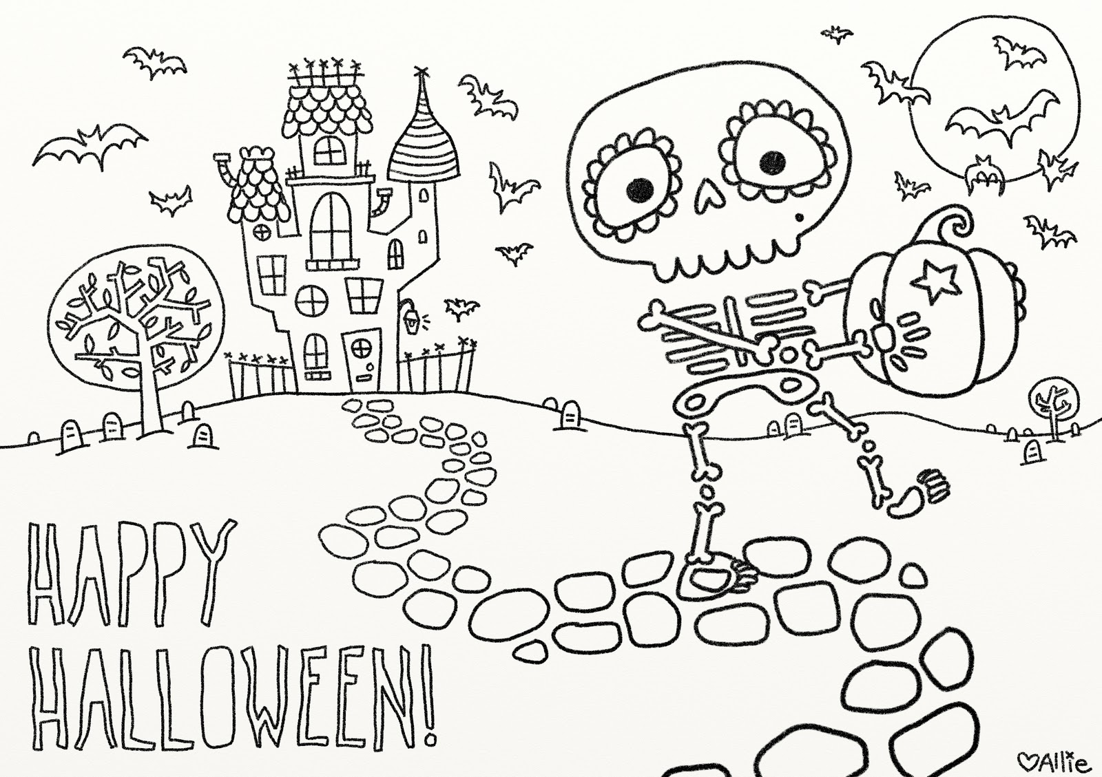 picture relating to Printable Holloween named 9 enjoyable absolutely free printable Halloween coloring webpages