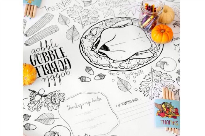 12 free (or mostly free) Thanksgiving printables from place cards to gift tags to coloring pages for the kids.