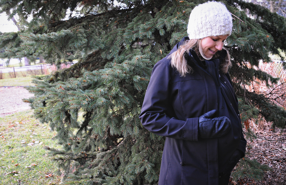 Skip the pricey maternity coat with this smart coat extender. (Not that you're not hot all the time anyway.)