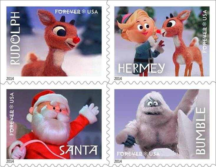 Creative stocking stuffers for kids: Rudolph postage stamps