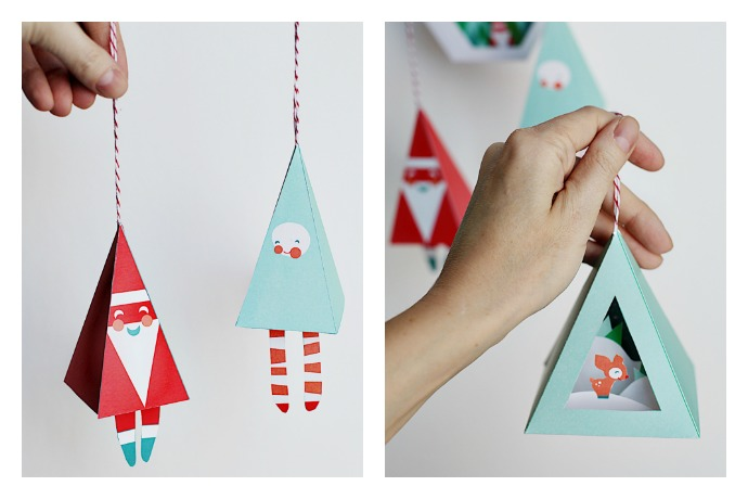 deck the halls with printable christmas ornaments from smallful