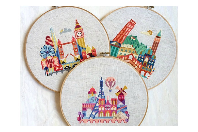 Stitch the coolest big city gifts with these DIY embroidery patterns