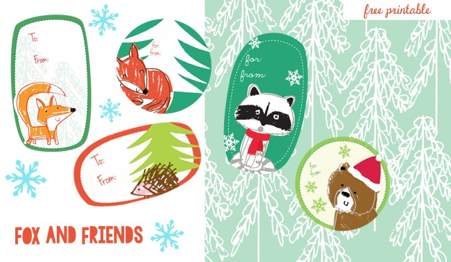 Adorable, free printable holiday gift tags from illustrators you may already know and love