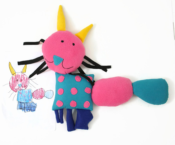 Custom dolls from your kids' drawings. Now that's a keepsake.