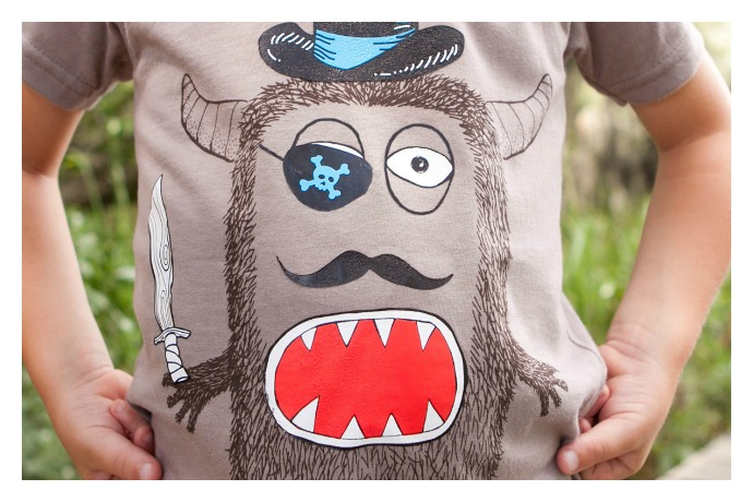 a monster t shirt your kids will love because they design it