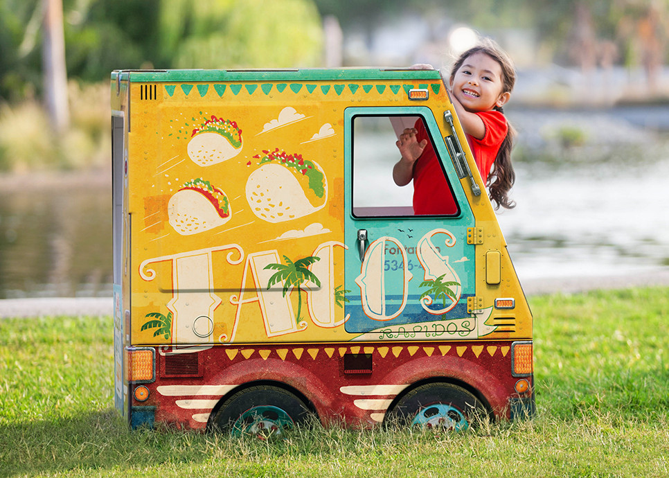 Cardboard Food Truck Playhouses For Hipster Kids