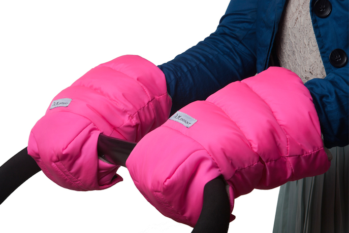 WarmMuffs: The first sleeping bags for the person pushing the stroller, not riding in it.