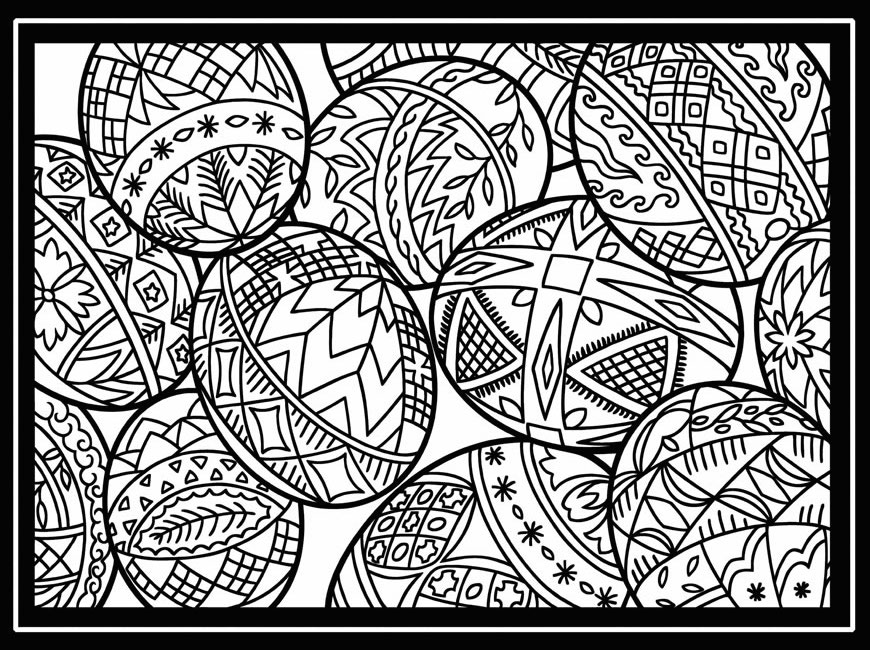 10 cool free printable easter coloring pages for kids who for Free easter coloring page