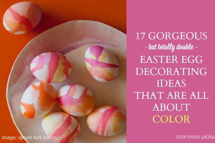 17 super cool Easter egg decorating ideas that are all about the color.
