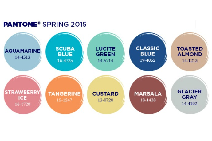The best nail shades of the Pantone spring 2015 colors. Also the most affordable way to stay on trend.