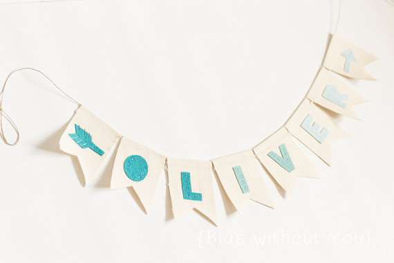 Reusable personalized birthday banners that you'll want to look at more than once a year.