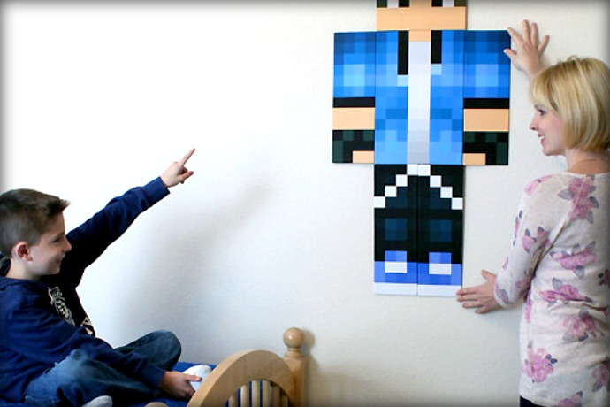 Minecraft skin, actual size! (But not actual skin. That would be weird.)