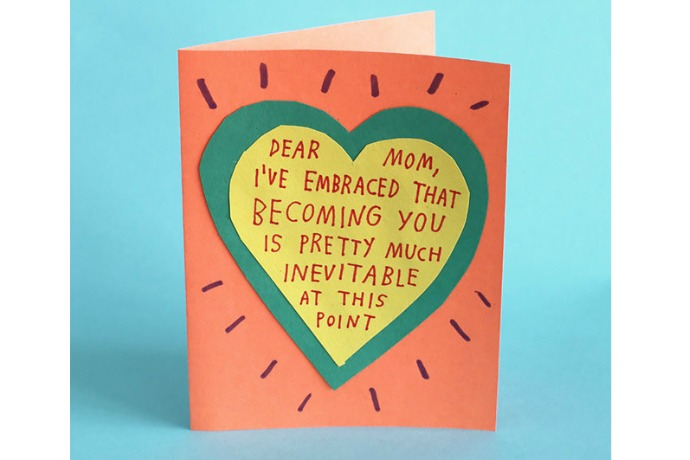 Web Coolness: Last minute Mother's Day help, honest cards, and the poster you want your daughters to see right now.