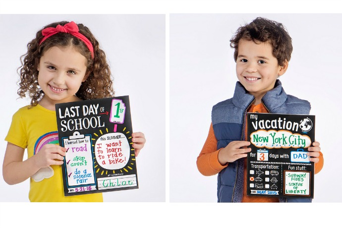 Adorable new photo memory cards for the last day of school, and other big moments