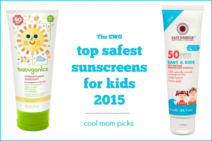 The EWG list of the safest sunscreens for kids. Just in time for summer
