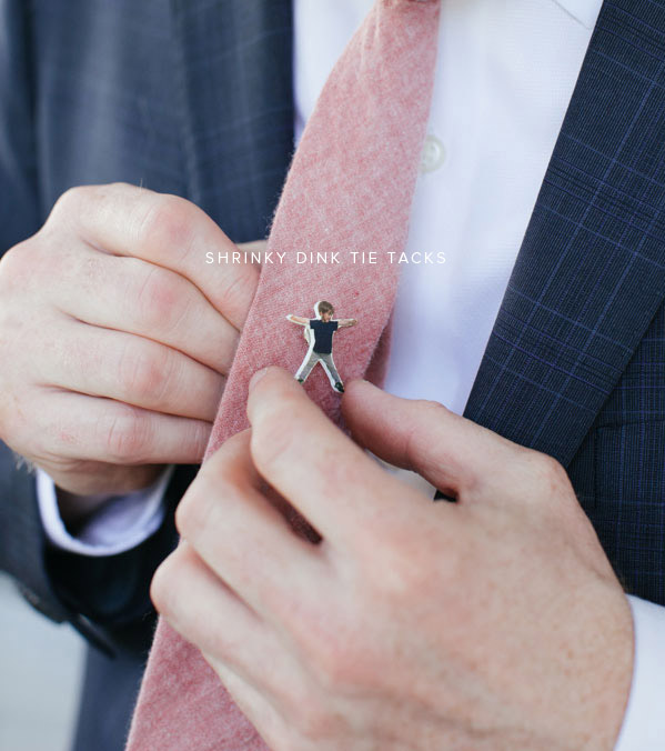 Last-minute Father's Day gift ideas: Shrinky Dink tie clips at Oh, Happy Day