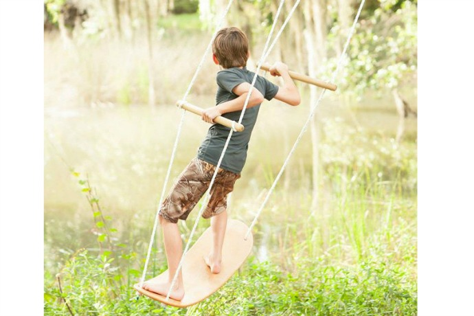 The Swurfer: Not your grandma's backyard swing