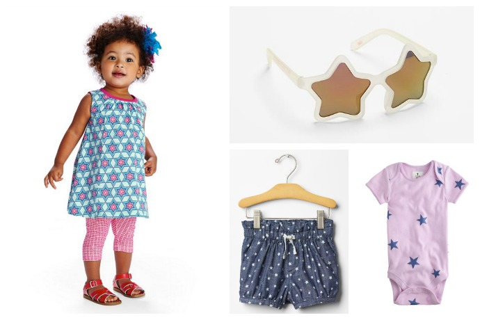 8b6805ad9 Festive baby clothes with stars for your Fourth of July parties (and photo  opps)