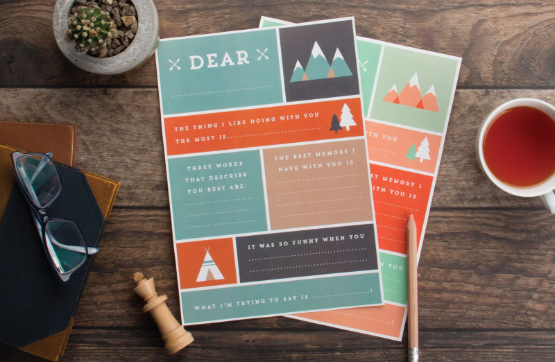 Fab free Father's Day printables for fans of great design. And making him cry.