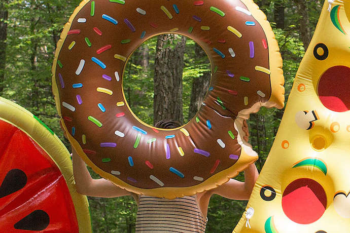 Trend alert: Donuts are everywhere! (What? You don't have a donut pool float yet?)