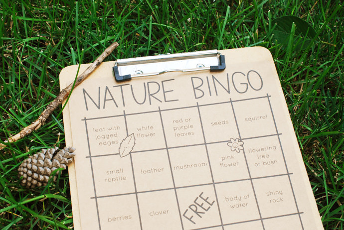 Nature Bingo! A free printable project to keep the kids busy all summer