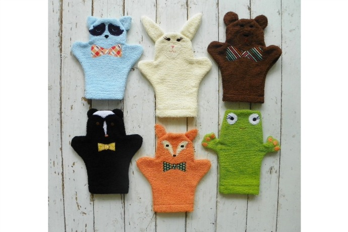 Handmade baby bath mitts that get you excited for baby bath time. Almost.
