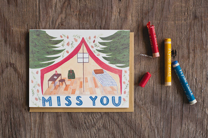 Some of our favorite camp stationery for kids: Here's hoping they write to us.