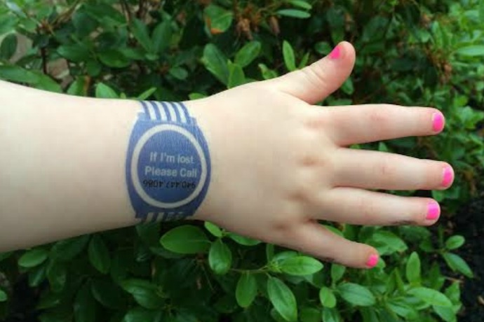 A cool temporary tattoo that keeps kids safe