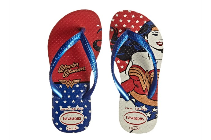 Wonder Woman Havaianas: All the feet are waiting for you.