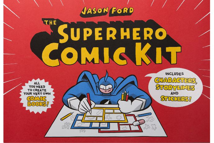 Superhero gifts for kids: comic kit