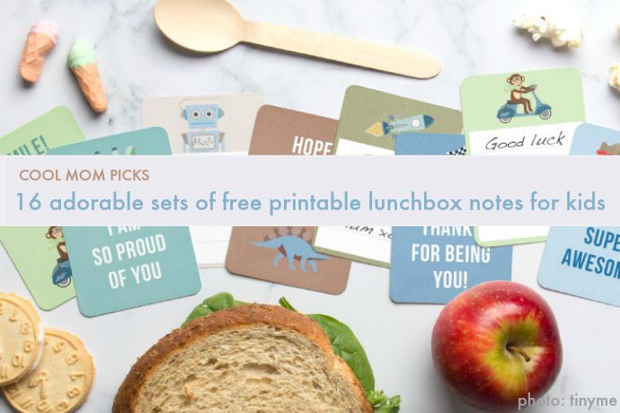 16 adorable free printable lunchbox notes for kids: From Minecraft, to Star Wars, to fill-in-the-blank with your own words of love.
